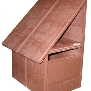 A-Series Hut Wooden Letterbox (Left Hand Option)1