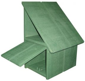 A-Series Hut Wooden Letterbox (Left Hand Option)2