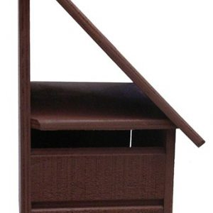 A-Series Hut Wooden Letterbox (Right Hand Option)1
