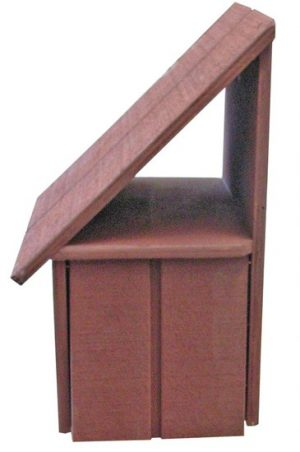 A-Series Hut Wooden Letterbox (Right Hand Option)2
