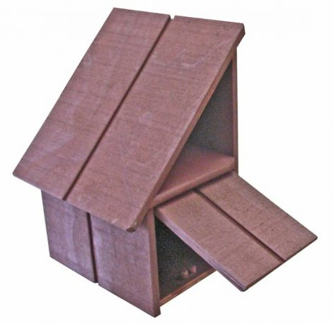 A-Series Hut Wooden Letterbox (Right Hand Option)3