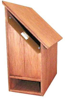 Florida Right Hand Hardwood Letterbox