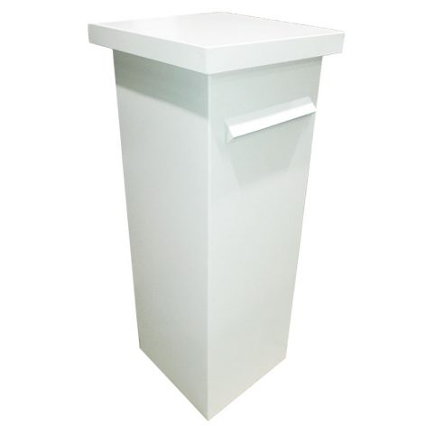 Pillar Letterbox in Surfmist