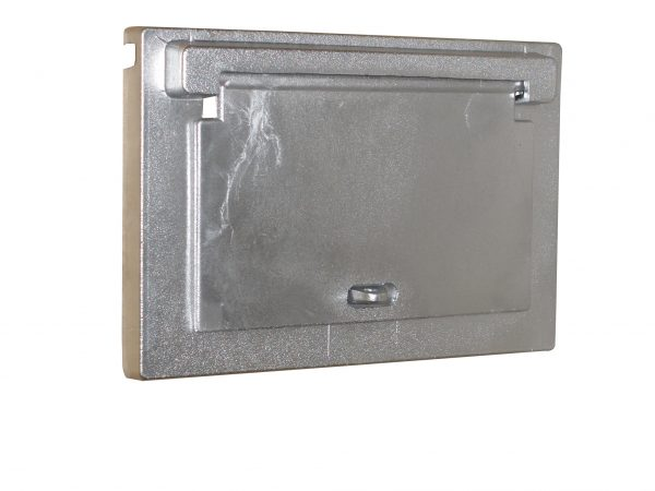 Cast Aluminium Brick Insert Back - Aluminium Finish - 230 Closed