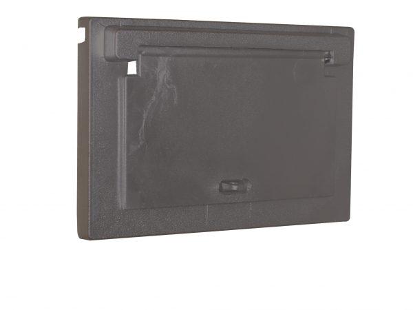 Cast Aluminium Brick Insert Back - Powder Coated- 230 Closed