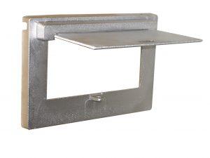 Cast Aluminium Brick Insert Back - Aluminium Finish - 230 Opened