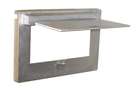 Cast Aluminium Brick Insert Back - Aluminium Finish - 230 Opened