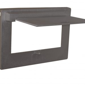 Cast Aluminium Brick Insert Back - Powder Coated- 230 Open