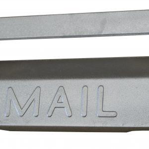 Cast Aluminium Brick Insert Front - Aluminium Finish - 345