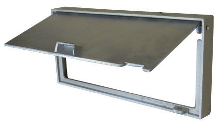 Cast Aluminium Brick Insert Back - 345 Open