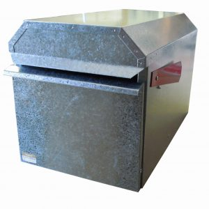 Large Square Rural Letterbox – Galvanised Finish Closed