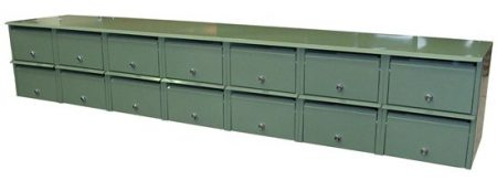Apartment Letterbox Bank Front Opening 7 x 2