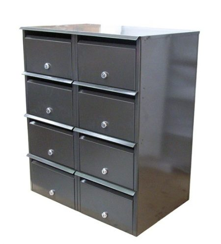 Apartment Bank Letterbox Front Opening 2 x 4