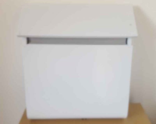 Clearance Slimline Metal Letterbox - White
