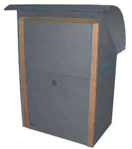 Clearance Front opening Security Box New Denim Blue