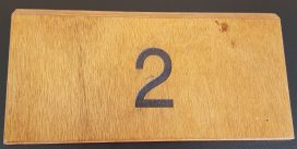 Wooden Number Etched